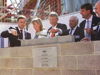 First foundation stone of KONS building (future head office ING Luxembourg) laid on 22 April!