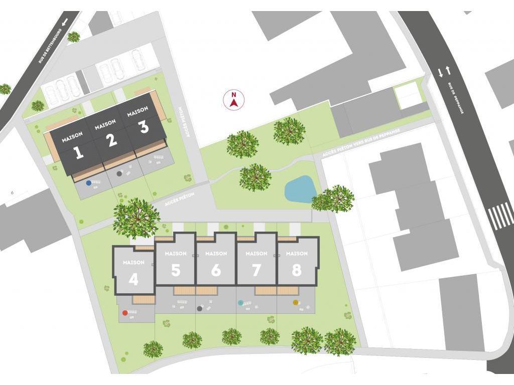 Nouvelle construction 3 chambres vendre livange for Assurer un garage hors residence